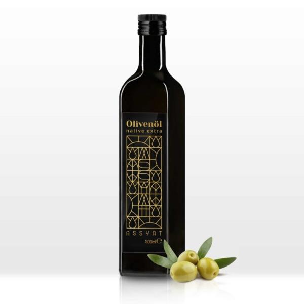 native extra olivenöl 500ml assyat