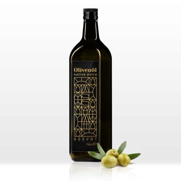 native extra olivenöl 750 ml assyat